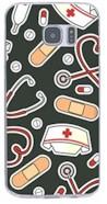 Softcase telefoonhoesje Medical Icons zwart