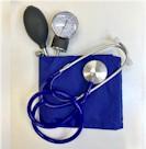 Nurse bloeddrukmeter DeLuxe Color Blauw incl. stethoscoop