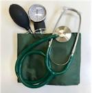 Nurse bloeddrukmeter DeLuxe Color Groen incl. stethoscoop