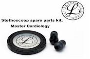 Littmann Stethoscoop spare parts kit, Master Cardiology Zwart
