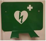 Metalen wandhouder voor HeartSave AED